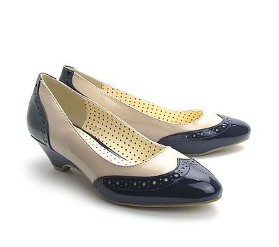 3c65fcd5422 Ida - vintage style two tone shoes by B.T at Deadly is the Female