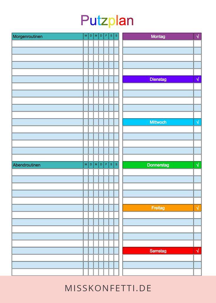 Reinigungsnachweis Reinigungsplan Als Excel 12