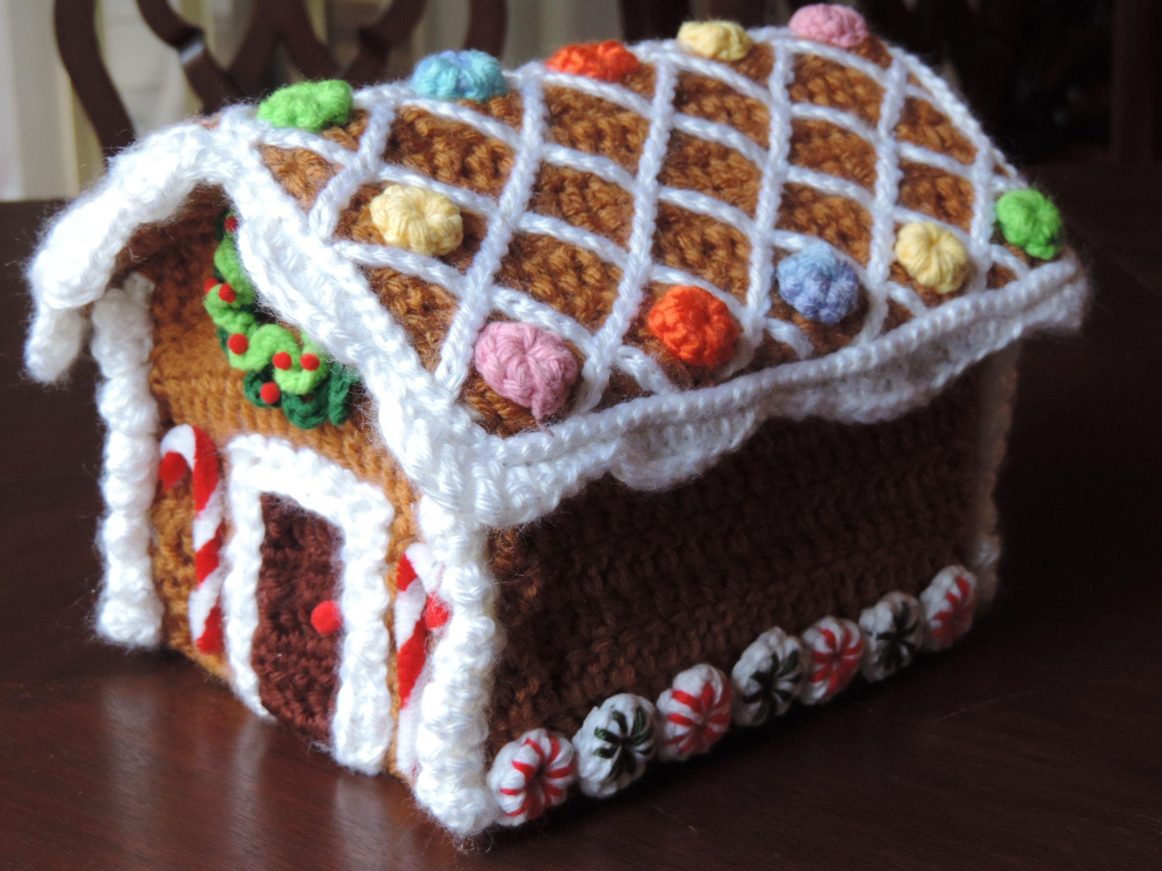 My gingerbread crochet house | Crochet & Cia | Pinterest | Weihnachten
