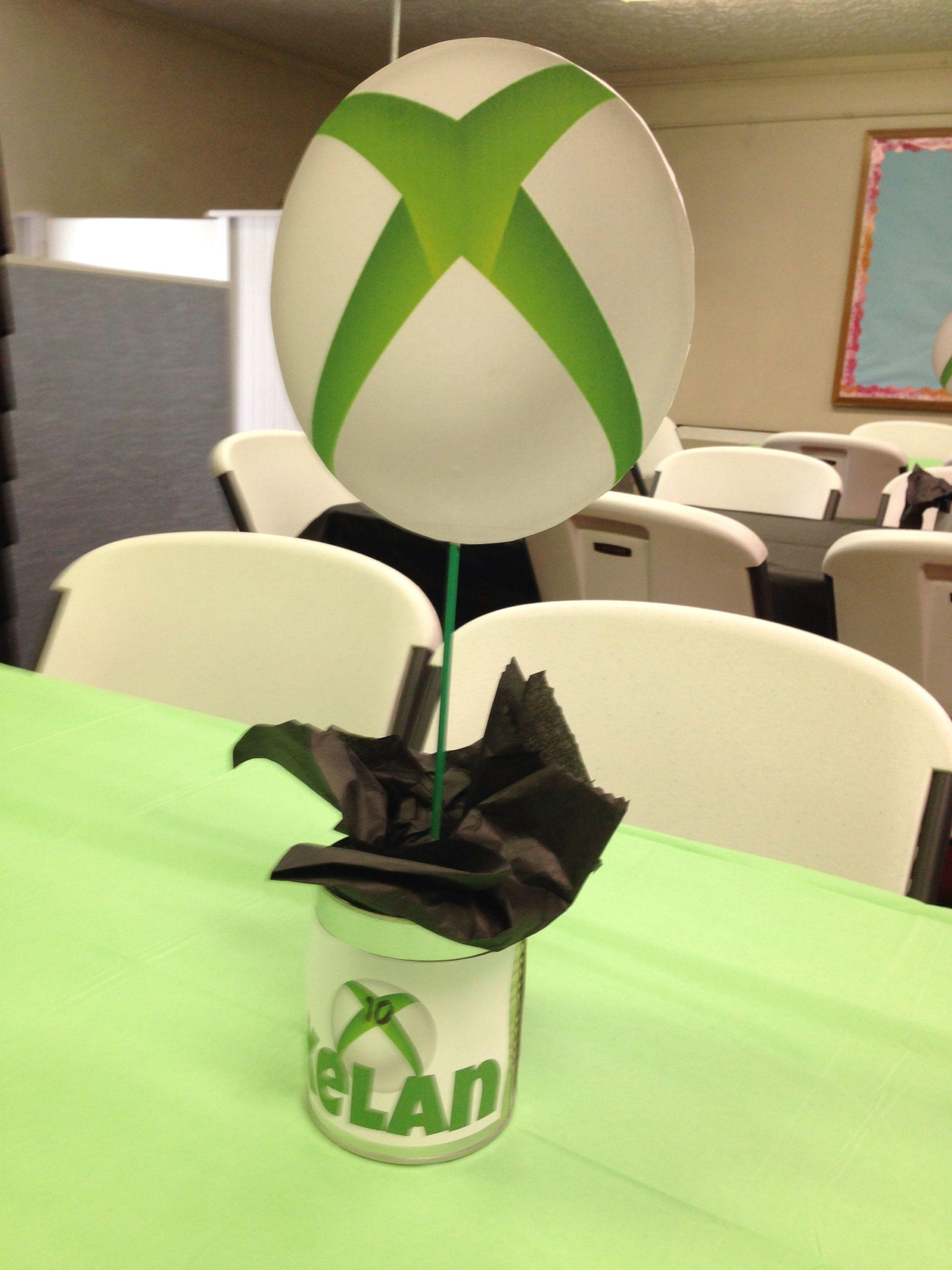 Xbox Birthday Party Centerpieces