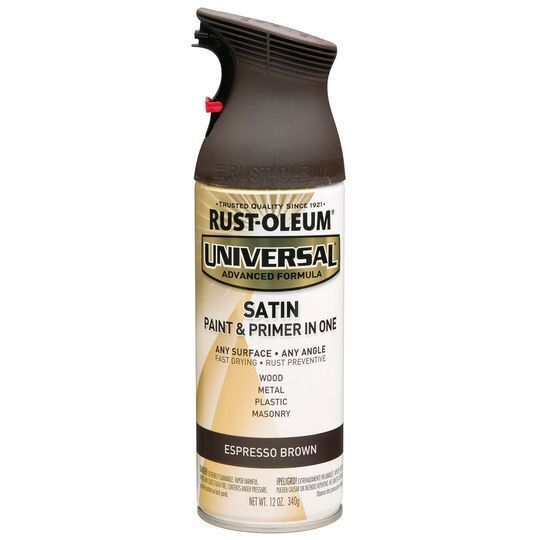 Rust Oleum Universal Satin Spray Paint In Brown 12 Oz Michaels Metallic Spray Paint Black Spray Paint Gloss Spray Paint