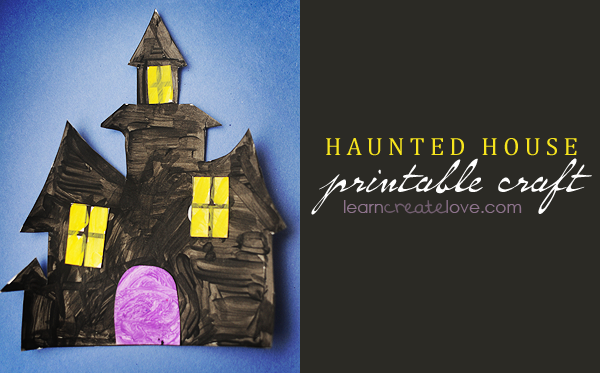 halloween kids haunted house printable craft - Halloween Printable Crafts For Kids 2