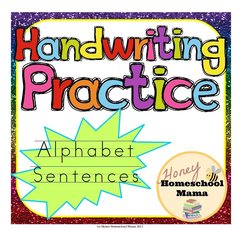 These alphabet sentences are a great way to review the alphabet and words that start with the letters as well as practice handwriting!
