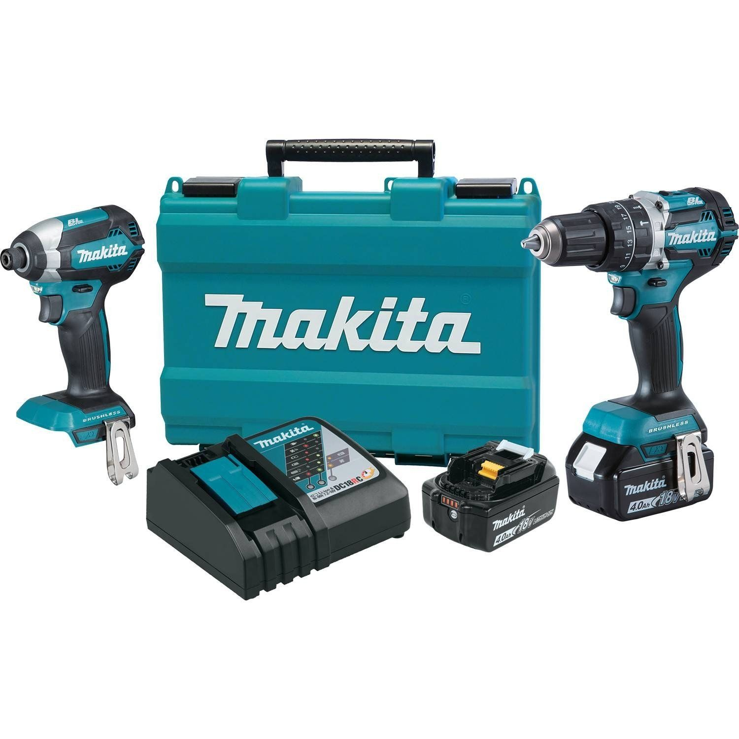 Makita Xt269m 18v Lxt Lithium Ion Brushless Cordless 2 Pc Combo Kit 4 0ah Insider S Special Review You Can T Combo Kit Drill Driver Cordless Power Tools