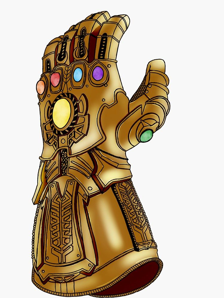 The Infinity Gauntlet Sticker By Jackiedp123 Gemas Del