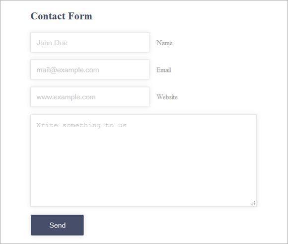 25 Best Free CSS, HTML Contact Form Templates + Tutorials - Design ...