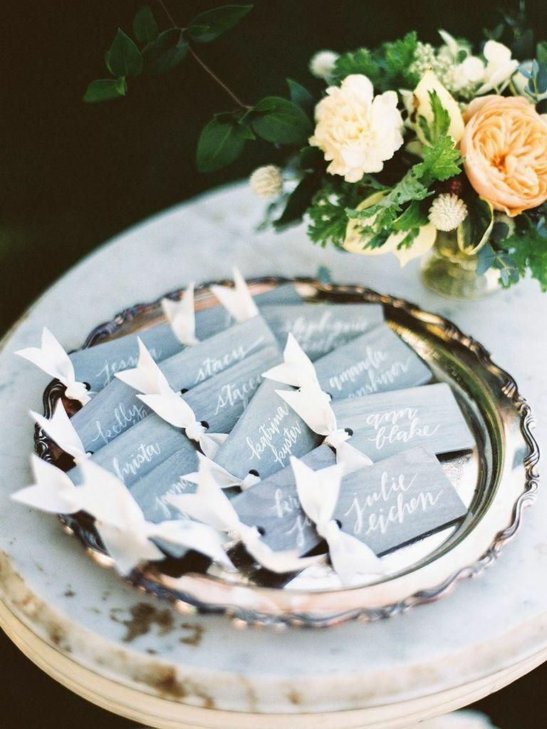 wedding escort card idea; photo: Krista A. Jones Photography & Design