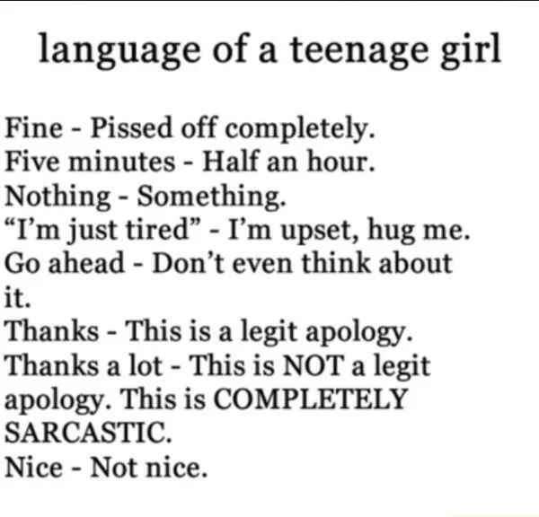 Teenage Girl Decoder LOL Pinterest Hilarious And Gifs Enchanting Quotes For Teenage Girls