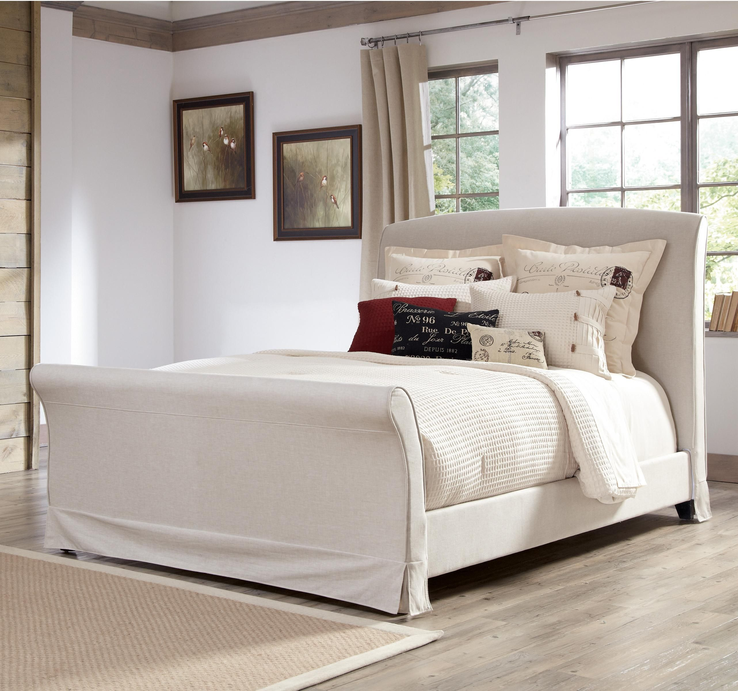 Slipcover for a sleigh bed headboard Bedroom decor for