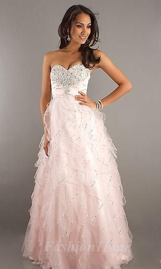 Fluffy pink glitter prom dress | Dresses | Pinterest | Prom, Glitter ...