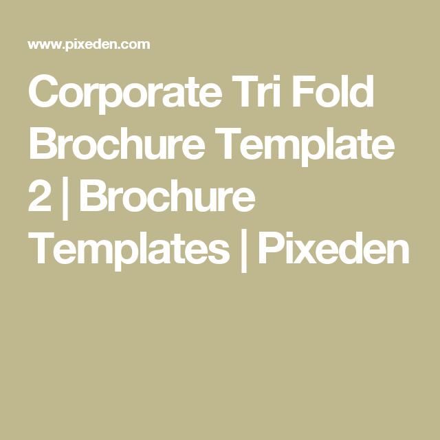 Corporate Tri Fold Brochure Template 2 Brochure Templates