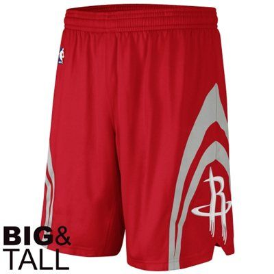adidas Houston Rockets Authentic Big & Tall Shorts - Red, Too Expensive ...