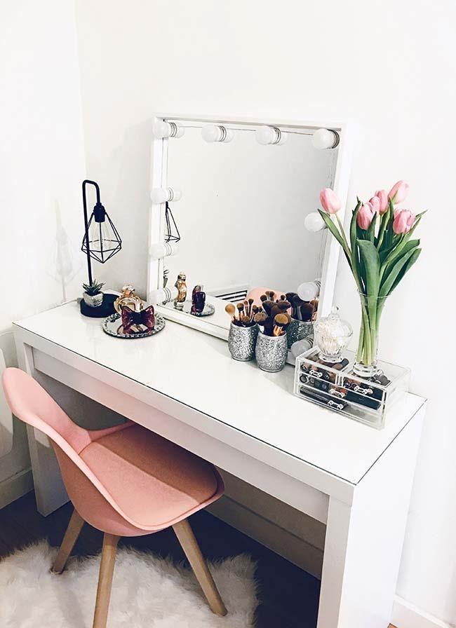 Dressing Room Dresser: 60 Modelle und Ideen, um das Dekor zu verbessern #schminktischideen