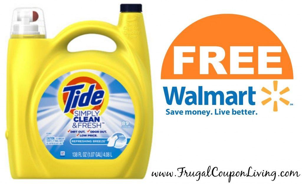 Free Tide Free 38 Oz Detergent From Walmart After Cash Back