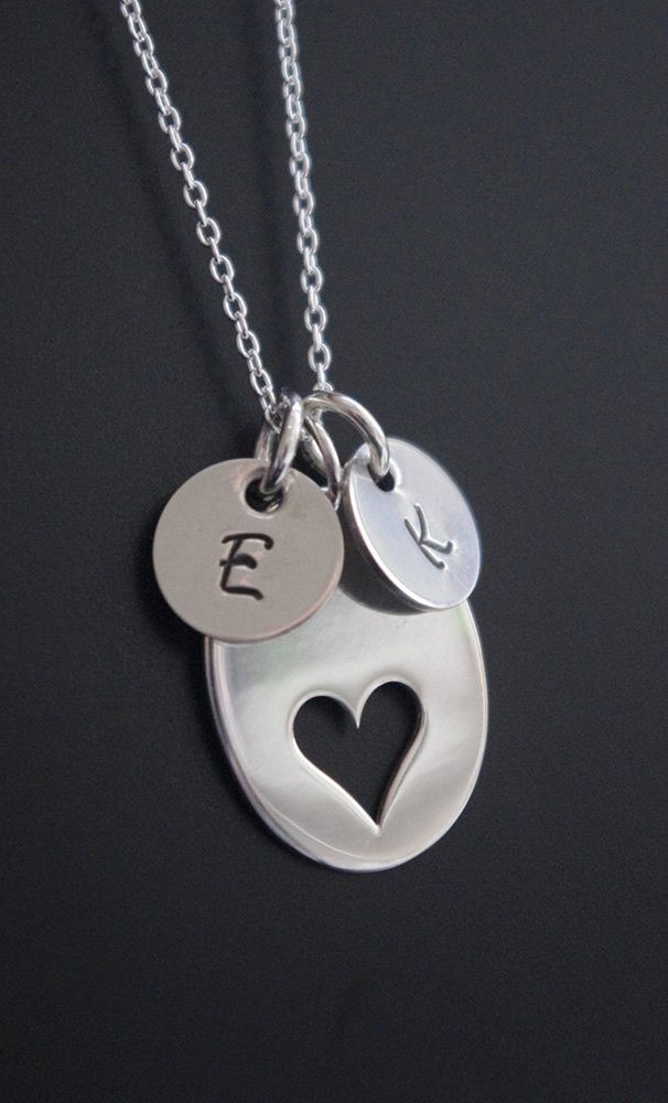 Sterling Silver Diamond Initial Charm Letter Y Hand Stamped With 18 Silver Bead Chain