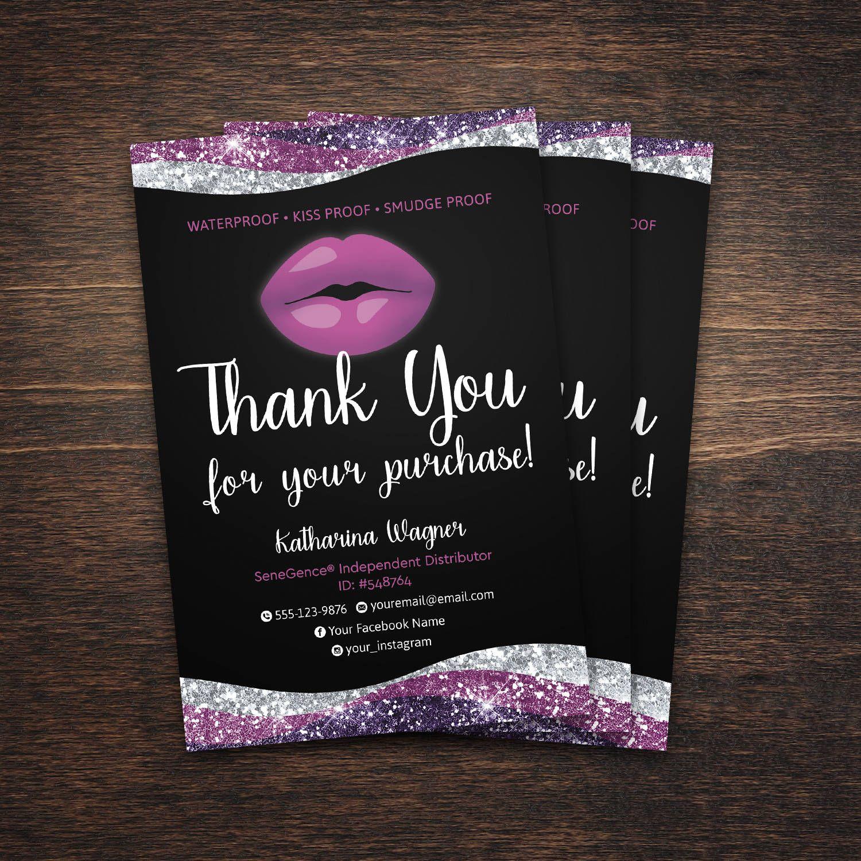 Lipsense Thank You Card Lipsense Distributor Lipsense Thank You