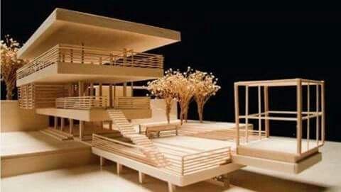 modern house plans balsa wood. Balsa wood architectural model  Architecture models Pinterest