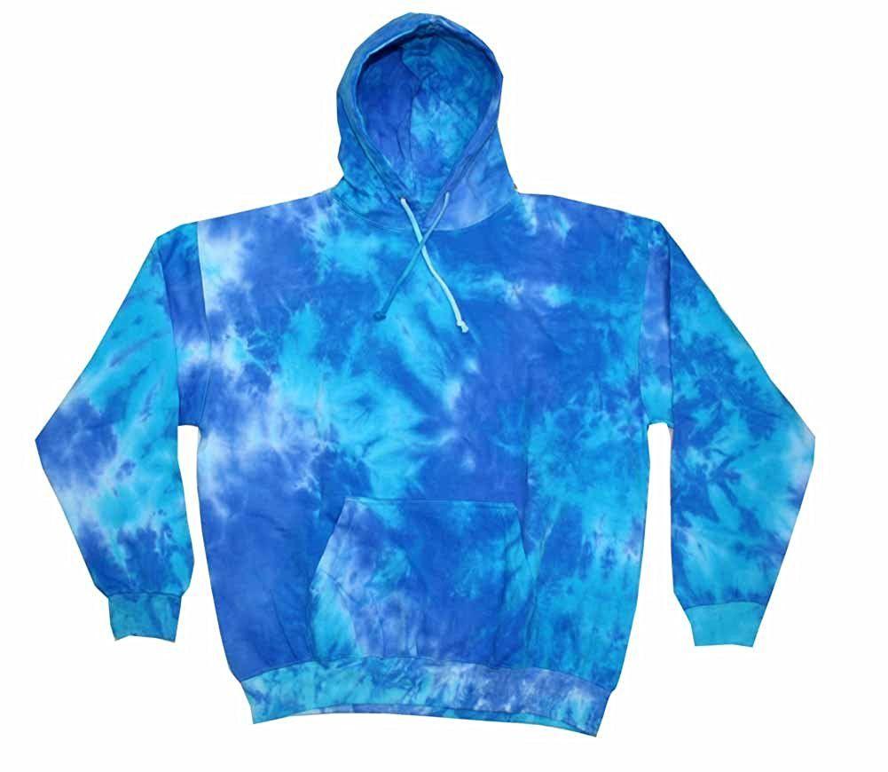 Blue Tie Dye Sweatshirt, Adult Unisex Sizes S M L XL XXL 3XL, Hippie Hoodie, Pullover, Tie Dye Sweatshirt, Men's Tie Dye, Women's Tie Dye
