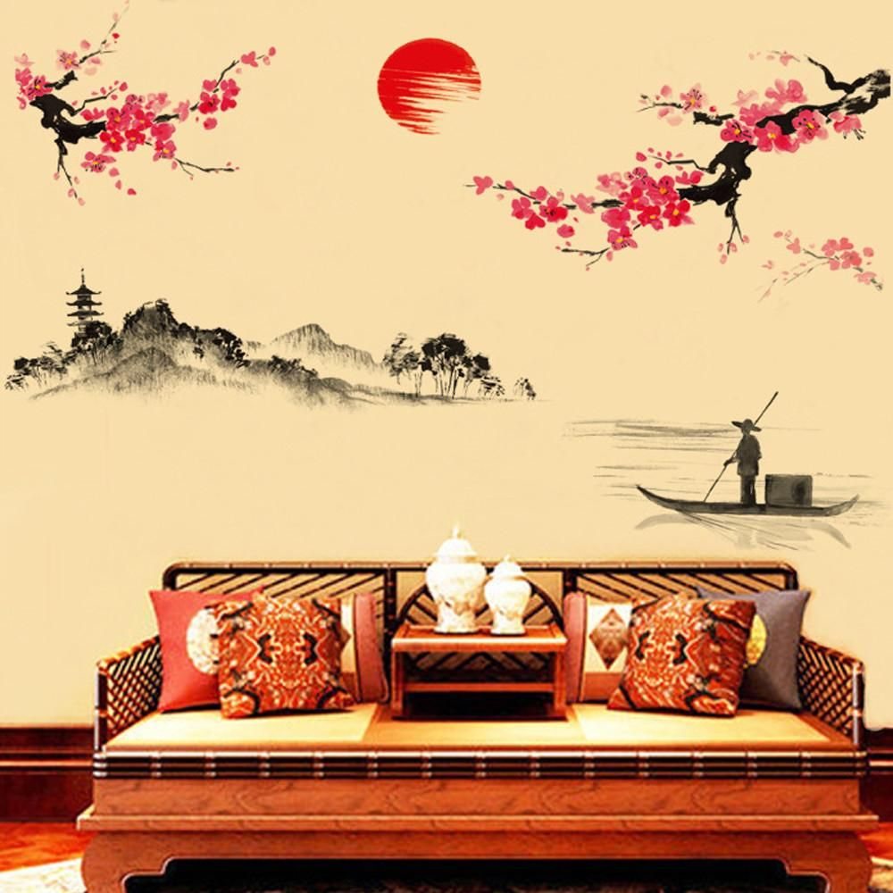Oriental Wall Mural Decal | Wall mural decals, Wall murals and Products