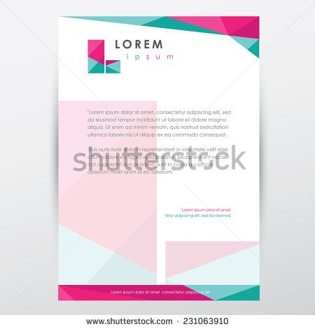 style business letterhead memorandum template design for company - one inch margins