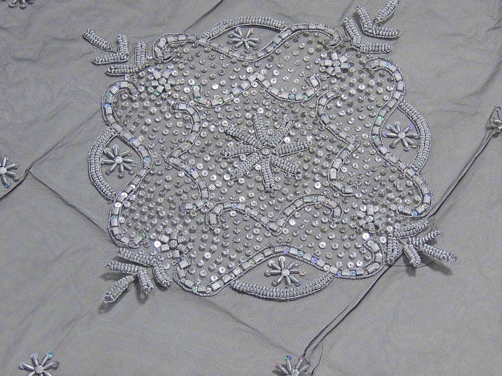 Lovely Luxury Floral Beaded Tablecloth India Handcrafted Elegant Designer Table  Linen | NovaHaat.com