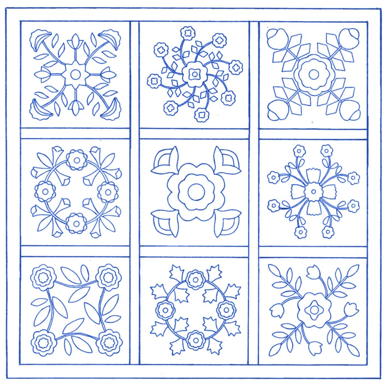 applique quilt blocks free