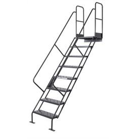 10 Step Industrial Access Stairway Ladder, Perforated   WISS110246