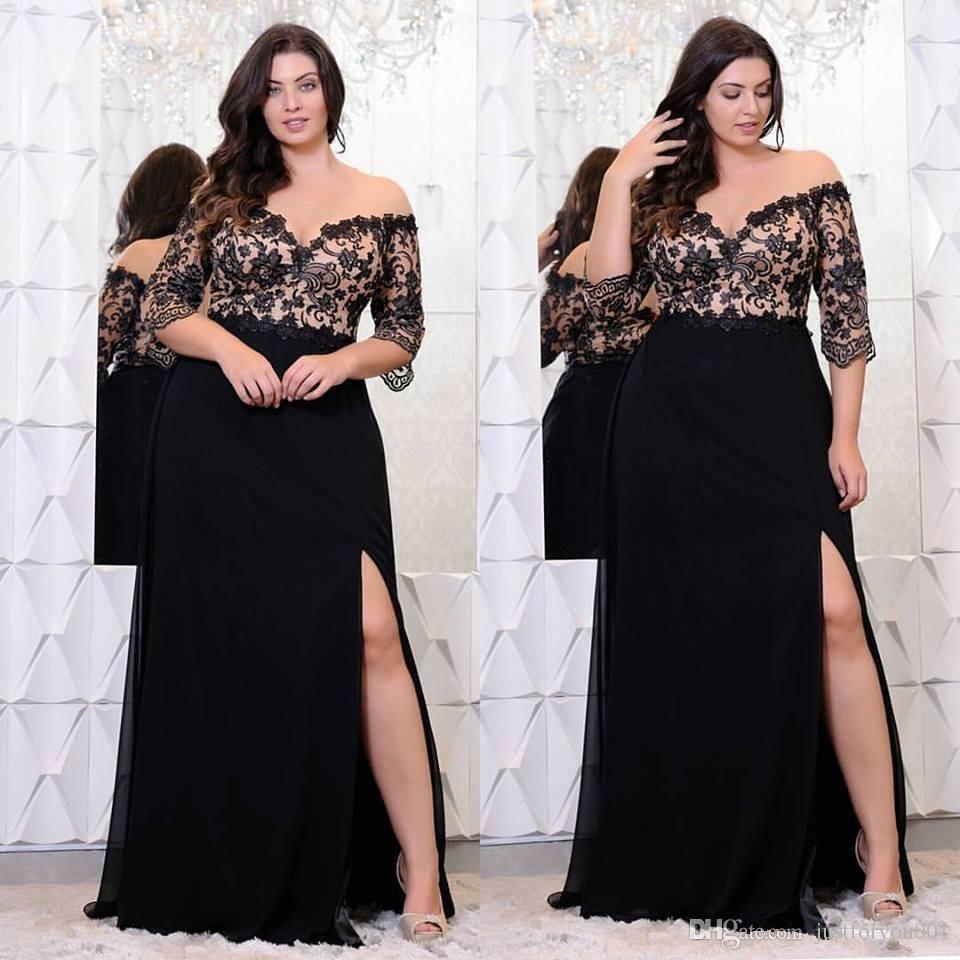 V-Neck Plus Size Prom Dresses 2018