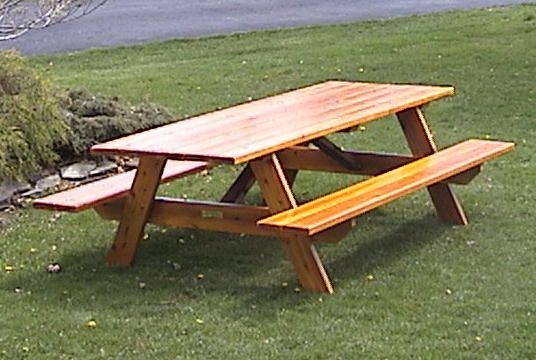 Here 8 Foot Cedar Picnic Table Plans Picnic Table Plans Diy