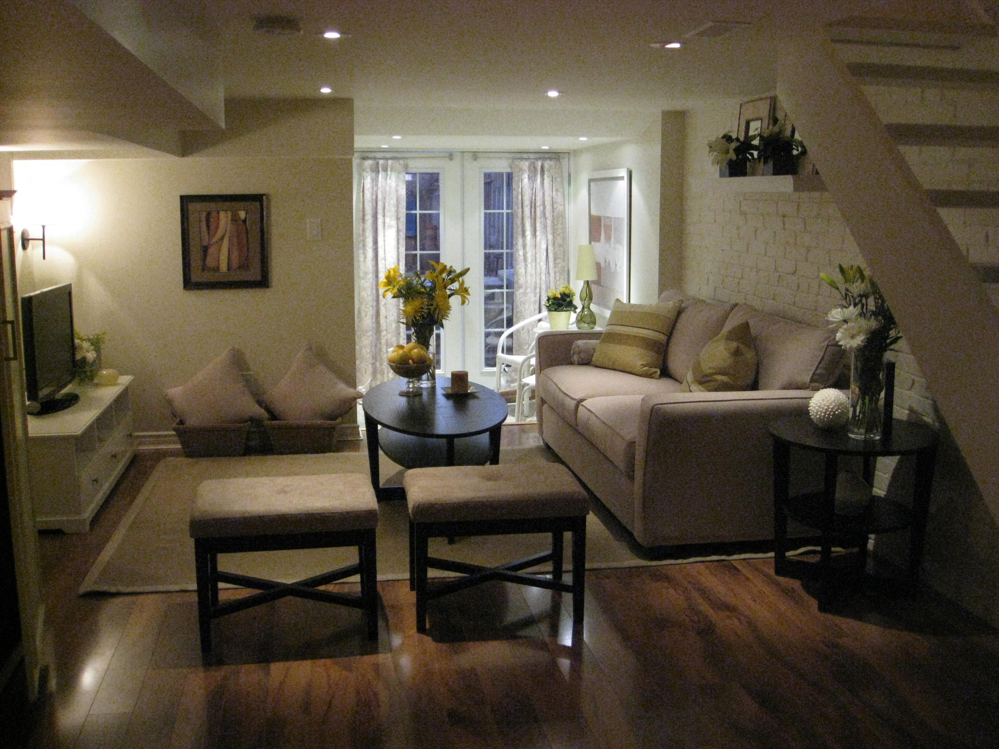 Living Room Design For Small Spaces Fair Small Basement Family Room Ideas  Living Room 21 Fascinating Design Inspiration