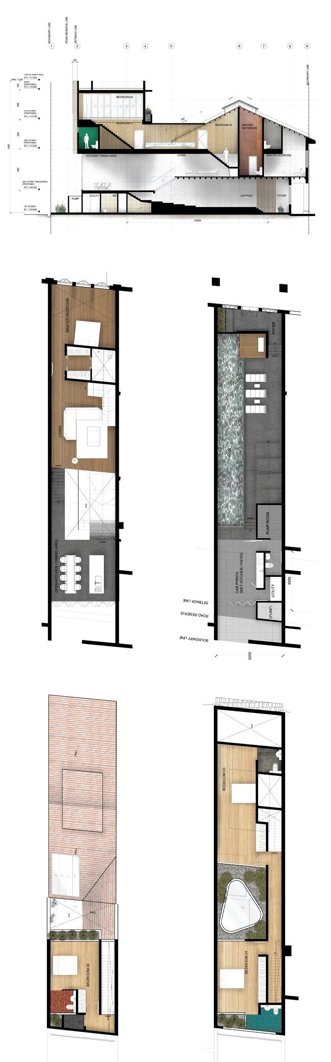 The Lorong 24a Shophouse Series Narrow House Plans Building A House Shop House