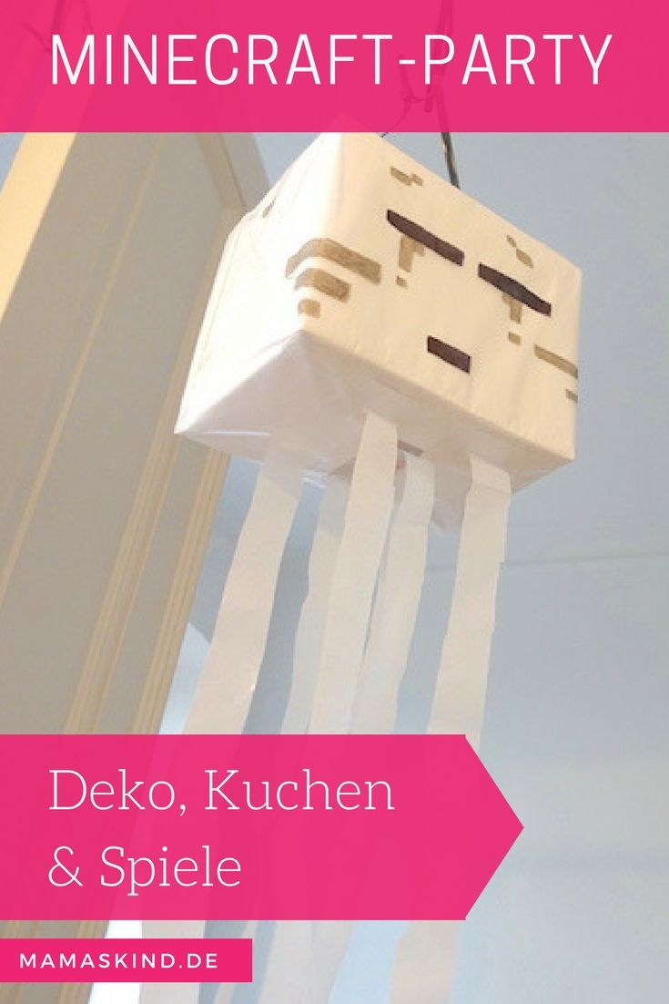 MinecraftParty Zum Kindergeburtstag Mit Deko Spielen Kuchen Noel - Minecraft coole spiele