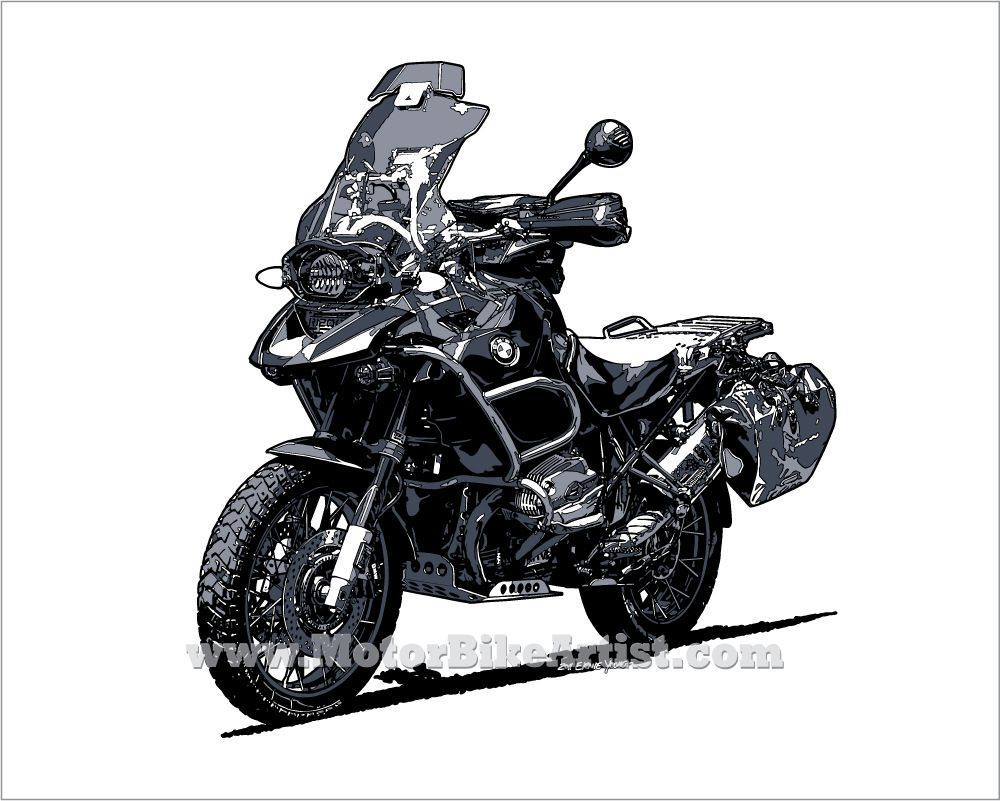 Merveilleux Items Similar To BMW GS Adventure Motorcycle Drawing Art Print On Etsy