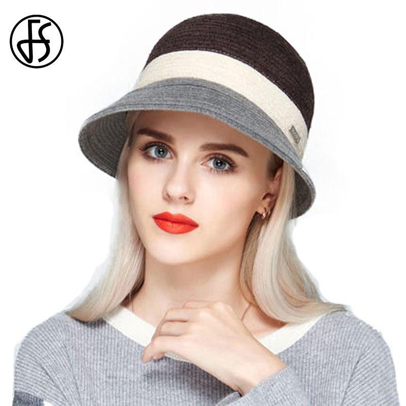 a6559d6558b33 Vintage Hats Women Black Brown Wide Brim Summer Fedora Hat Lady Travel Hat  Elegant Church Hats For Women With Big Heads