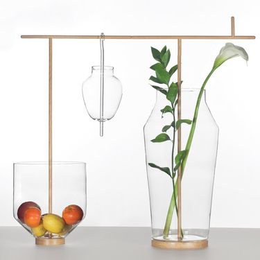 The Unco Glass and Wood Collection is part of Secondome's special edition glass collection.    Read more: http://www.dwell.com/products/unco-glass-and-wood-collection.html##ixzz1wUNudMAo