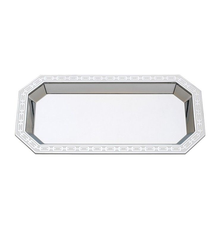 Reed & Barton - Silver Link White Catch All Tray