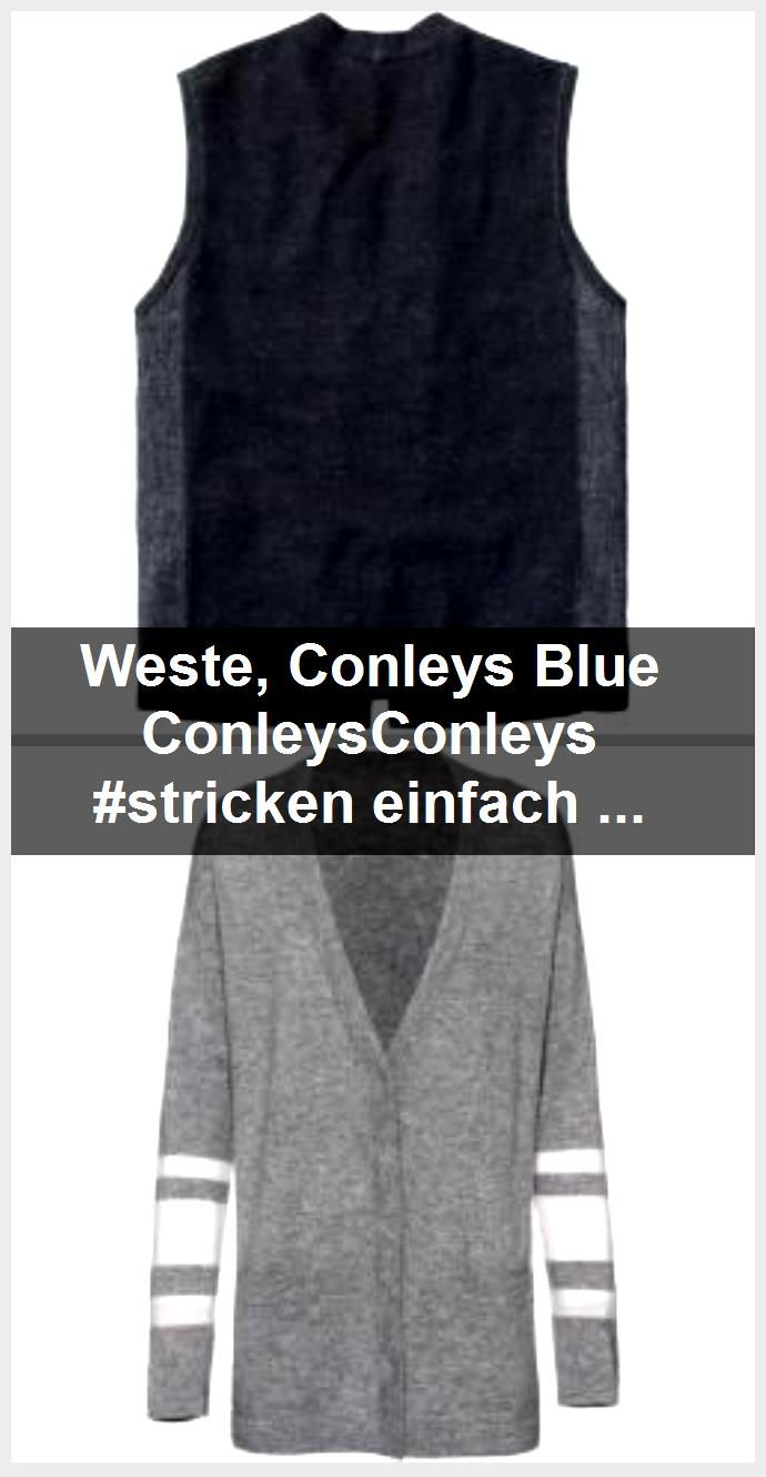 Photo of Weste, Conleys Blau ConleysConleys #stricken einfache Pullover Strickwesten für …