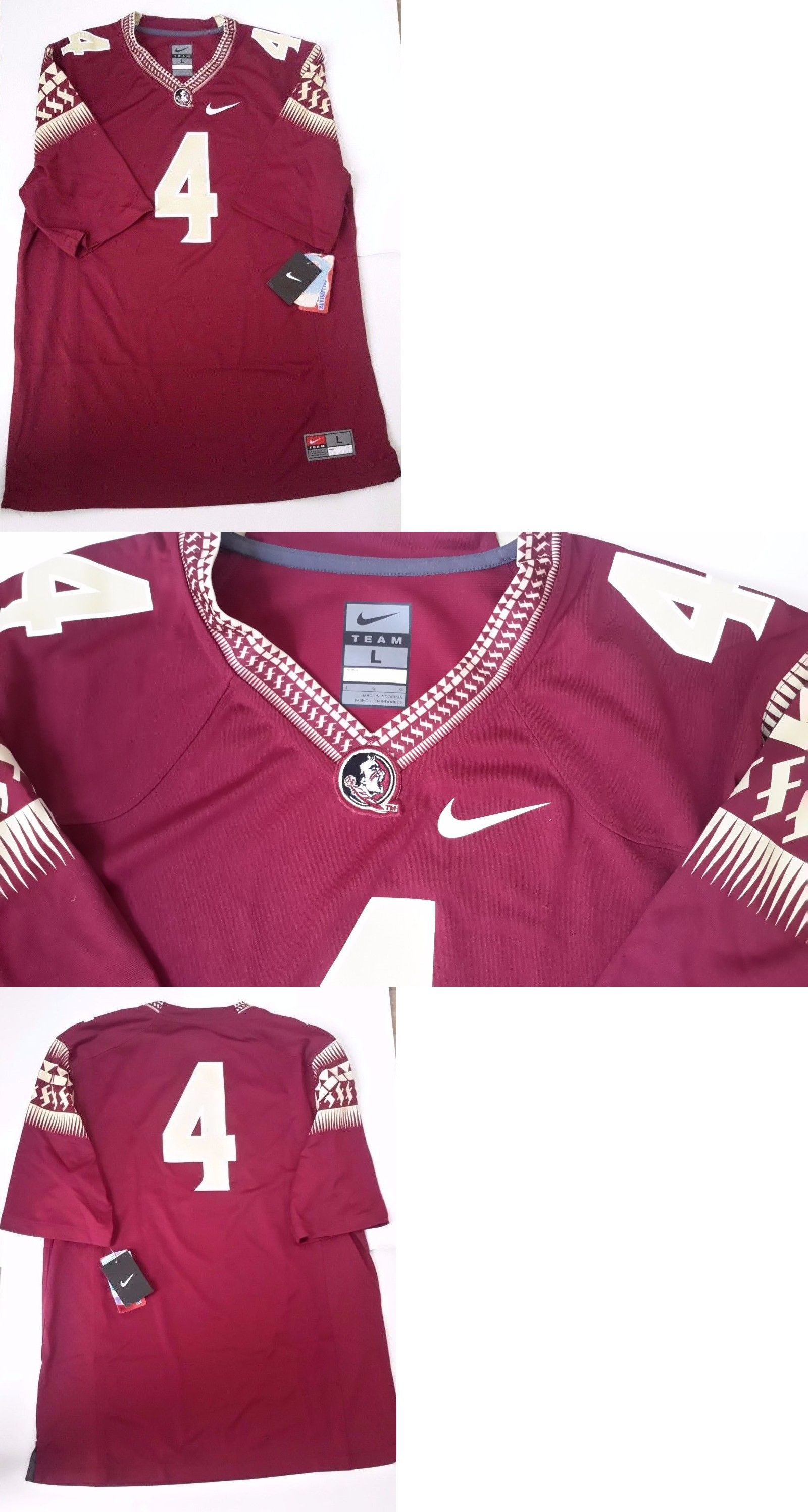 college ncaa 24541 new nike fsu florida state seminoles men s football jersey home
