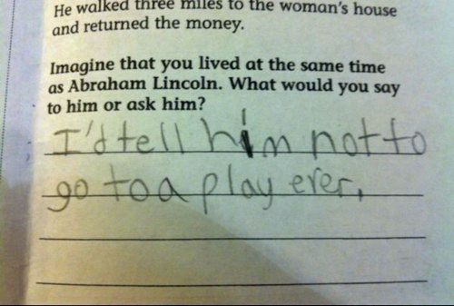 smart kid.
