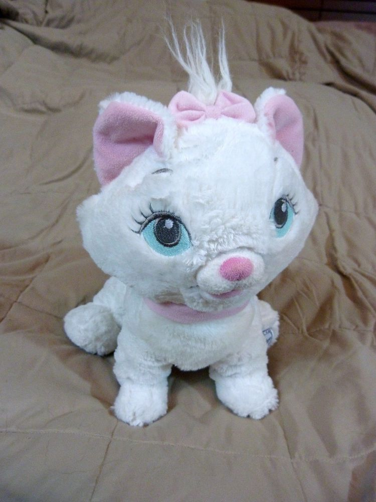 "Disney Store Marie Aristocats Plush White Cat Authentic Stuffed Animal 12"" #Disney"