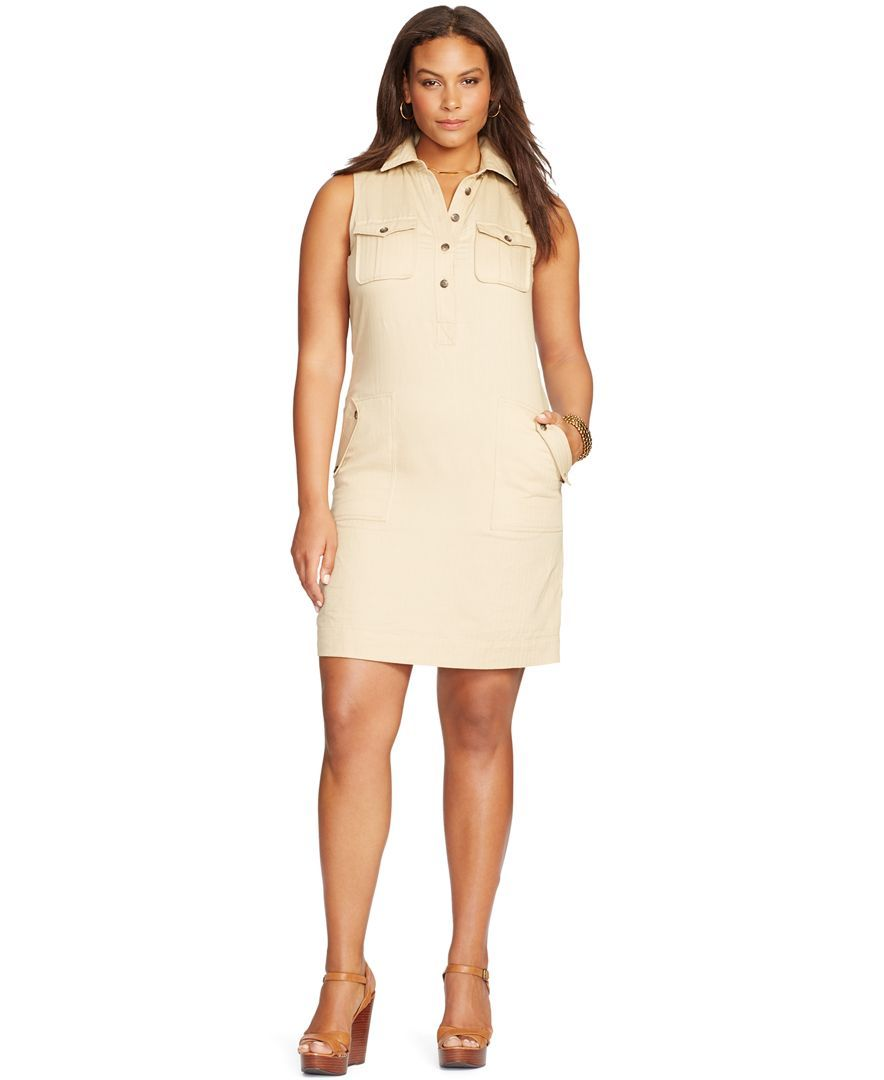 Lauren Ralph Lauren Plus Size Sleeveless Shirtdress Products