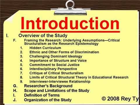 Sample Qualitative Research Outline  Rey Ty  Dnh   Applied