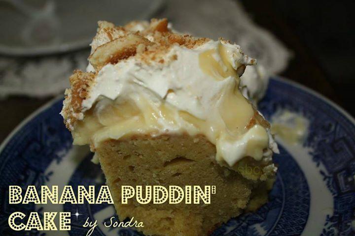 Banana puddin cake you will need 1 box yellow or banana