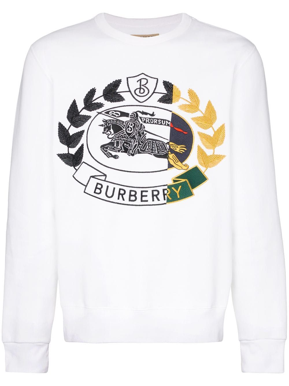 Burberry Burberry Logo Embroidered Jumper White Burberry Cloth Sweatshirts Logo Embroidered Burberry [ 1334 x 1000 Pixel ]