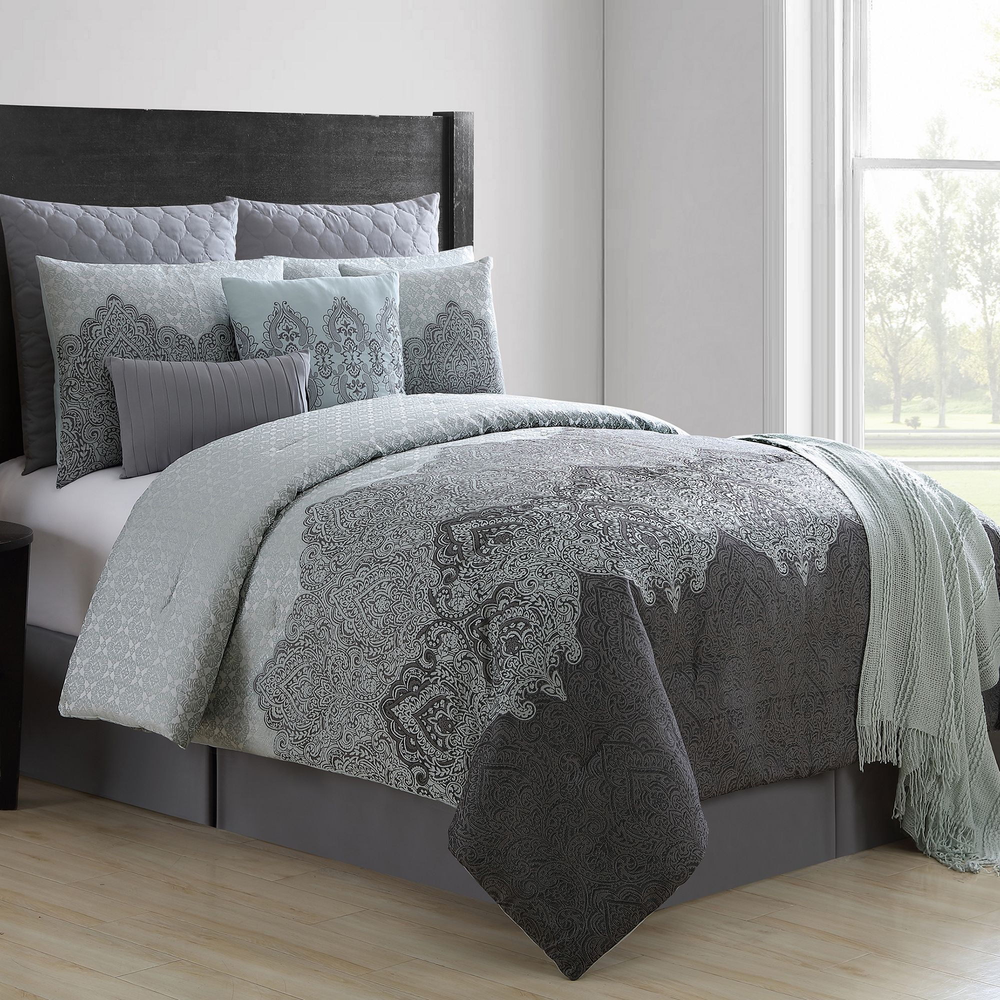 Comforter Sets With Curtains Vcny 10 Piece Matthias Comforter Set Products Bedroom
