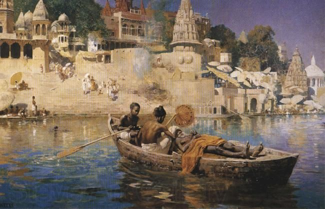 The Last Voyage, A Souvenir of the Ganges, Benares | Edwin Lord Weeks