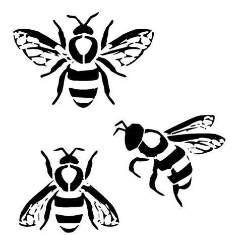 Bumble Bees Stencil Craftfabricglassfurniturewall Art