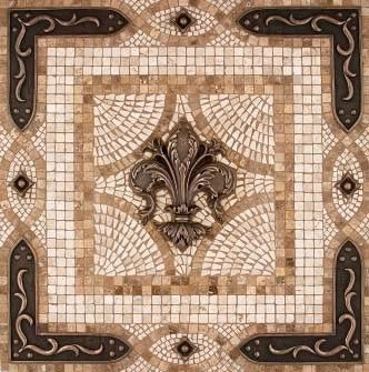 Fleur De Lis Mosaic Tile Medallion From Linda Paul Studio