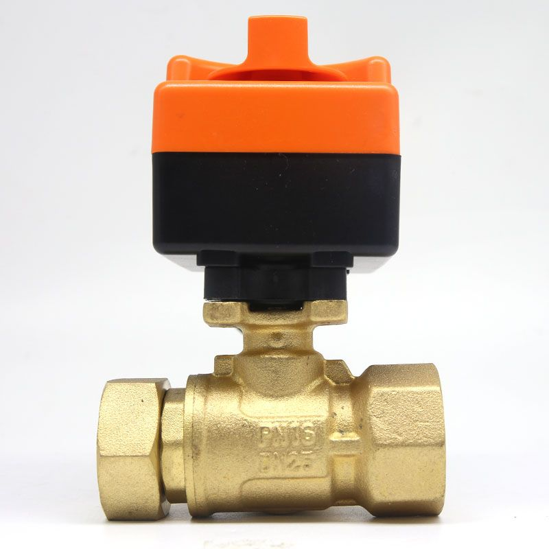 Dn20 G 3 4 Ac220v Electric Actuator Brass Ball Valve Cold Hot Water Water Vapor Heat Gas 2 Way Brass Motorized Ball Valve Brass Perfume Bottles Plumbing
