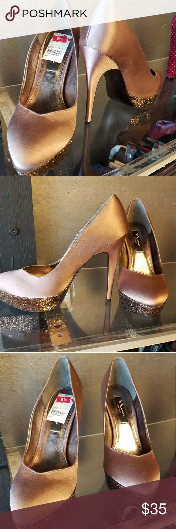 New Ni?a New York Heels Size 8.5 Brand New Beautiful Ni?a New York Sequence Heels Nina Shoes Heels